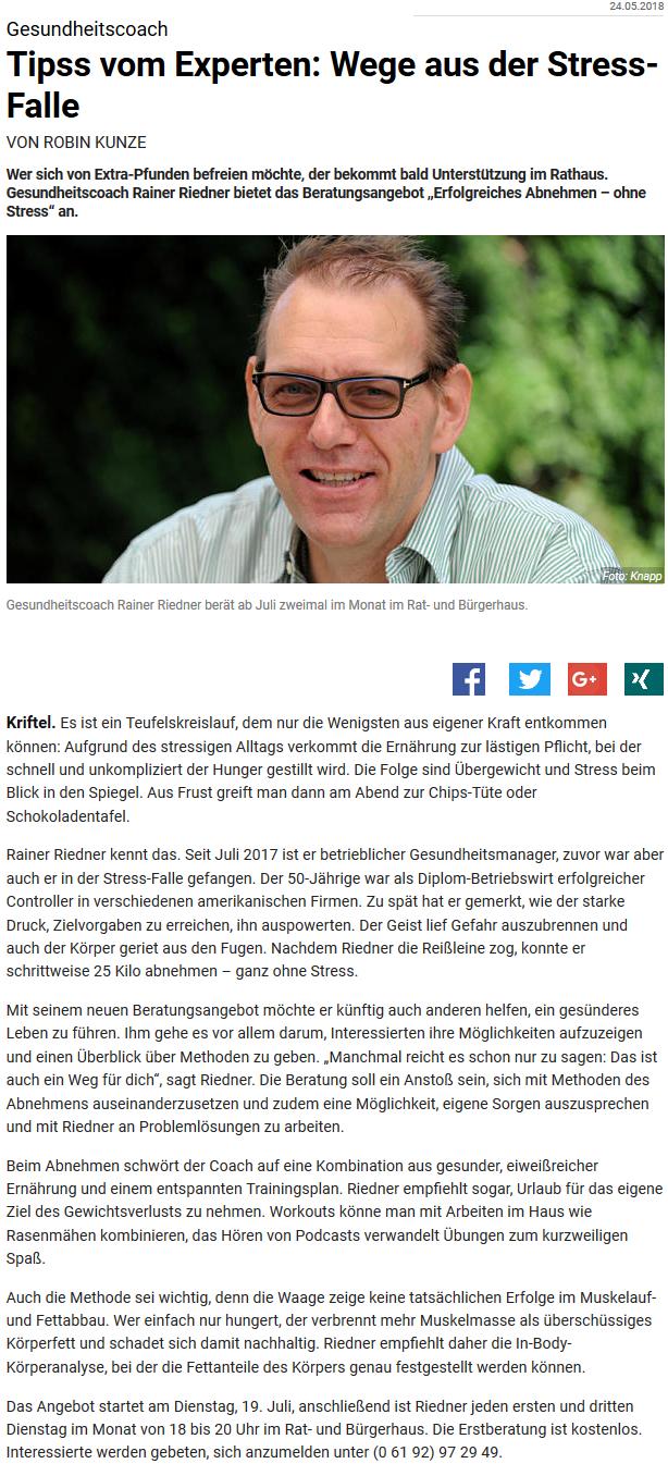 Bericht im Kreisblatt_Hofheim